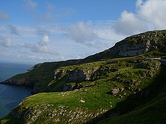 Great Orme - A view of the Great Orme's limestone cliffs from the former lighthouse