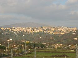 The skyline of Anagni