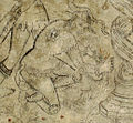 Villa le brache, ext, loggia, affreschi tardogotici con storie degli argonauti 10 giasone.jpg