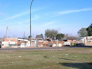 Villa miseria - Houses in a villa miseria in Rosario, Santa Fe