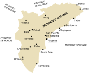 Province d'Alicante — Wikipédia
