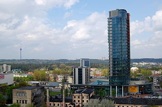 Naujamiestis, Vilnius - Image: Vilnius skyline Naujamiestis