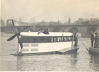 Airboat - Farman airboat prototype Le Ricocheur in 1924. She was capable of speeds of up to 125 km/h (67.5 knots)