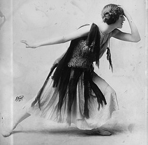 Flapper - Violet Romer in a flapper dress c. 1915