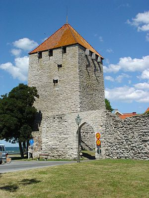 Visby City Wall - Image: Visby Kruttornet