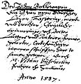 """Vitus Büscher (Abschrift Bernhard Homeister) """"Der Jöden Rollewagen"""", Hannover 1587.jpg"""