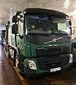 """Volvo FE 280 compacting waste collection truck (søppelbil for avfallshenting) for BIR (""""Bergensområdets Interkommunale Renovasjonsselskap"""") on car ferry Venjaneset–Hattvik, Hordaland, Norway 2018-03-21 D.jpg"""