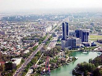 Economy of Uzbekistan - Image: Vue de l'Aqua Park Tachkent