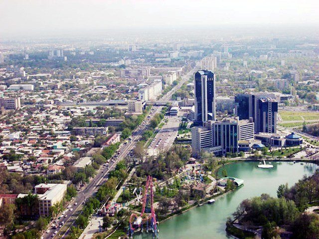 Commercial buildings in Tashkent