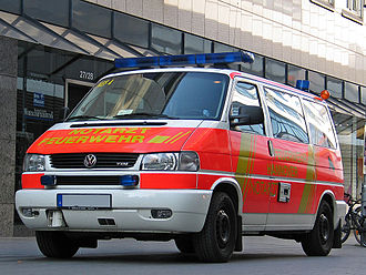 Healthcare in Germany - Emergency vehicle in Hannover
