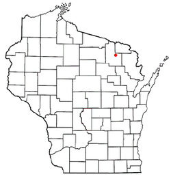 Location of Caswell, Wisconsin