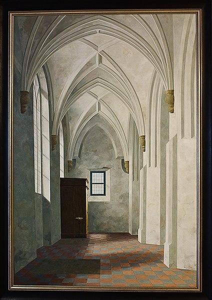 File:WLANL - MicheleLovesArt - ING - Henk Helmantel - Zuidbeuk van de kerk te Loppersum (1969).jpg