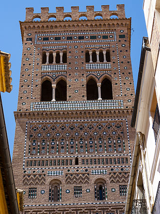 Mudéjar - Tower of the church of San Salvador, Teruel, Aragon