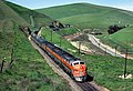 WP 803A with the California Zephyr in Altamont, February 1970.jpg