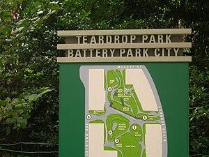 Teardrop Park - Map