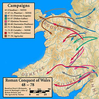 Wales in the Roman era - Image: Wales.Roman.Conquest
