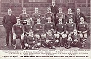Wales' 1905 team that defeated New Zealand.