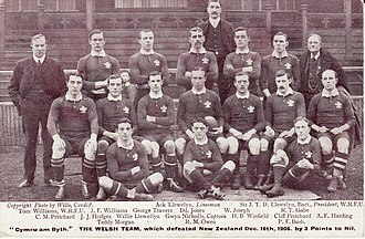 Arthur Harding - 1905 Wales squad, Harding, middle row, far right