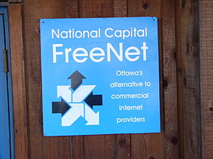 National Capital FreeNet - A sign at the NCF offices