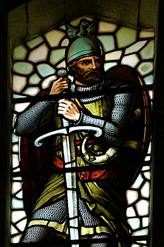 William Wallace - Wallace in stained glass at his monument in Stirling