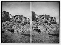 War views of Neby Samuel (Mizpah). Ruined mosque, a heap of debris. LOC matpc.02238.jpg
