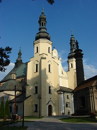 Warta, Poland - Church of Virgin Mary, built in the 15th century, rebuilt in the years 1696-1708.