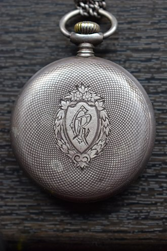 "Henri Mathias Berthelot - The silver-made Omega pocket watch presented by General Berthelot to Father Constantin I. Roșescu, a Romanian Orthodox priest and teacher from Iași, who became his friend during the WWI French campaign in Romania. The backplate is engraved with ""CR"", Roșescu's initials. Father Roșescu served as a military confessor during WWI, directly participating to battles."
