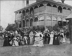 Patrick Perkins - Aubigny, at North Quay, Brisbane, 1897, when Miss Lilly Perkins married Mr Randal McDonnell