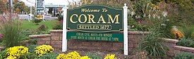 Welcome sign for Coram, NY.jpg