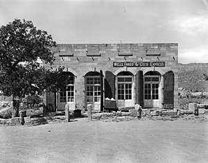 History of Wells Fargo - Wells Fargo and Company Express Building that was built circa 1877, Silver Reef, Utah