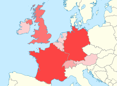 location map western europe world heritage sites
