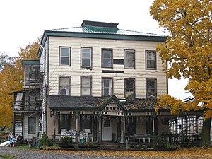 Exchange Street Historic District (Attica, New York) - Image: Western Hotel Exchange Street Historic District Oct 09