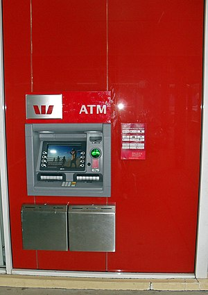 Westpac Automated Teller Machine (ATM) located...