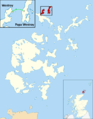 Westray to Papa Westray air route map.png