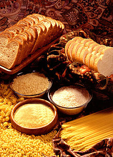 Prodotti cerealicoli, dalla fine del neolitico in poi la maggior parte dell'introito calorico della maggior parte della popolazione umana è di fonte amilacea. Cereali e altri prodotti della terra ricchi in carboidrati vengono variamente elaborati per trarne nutrimento.