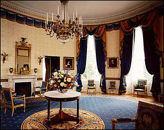 Blue Room (White House) - Image: White house floor 1 blue room