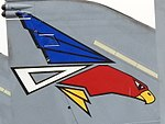 White-tailed eagle tail marking of a 302nd Tactical Fighter Squadron Japan Air Self-Defense Force F-4EJ Phantom II.jpg