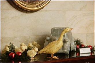 Make Way for Ducklings - The White House 2003 Christmas decoration using Make Way for Ducklings as the theme