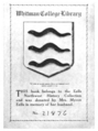 Whitman College Library bookplate.png