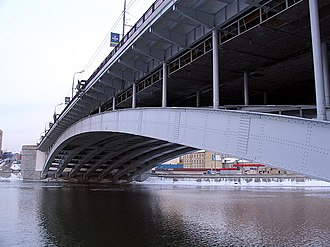 Palace of the Soviets - Bolshoy Krasnokholmsky Bridge, SDS steel arches