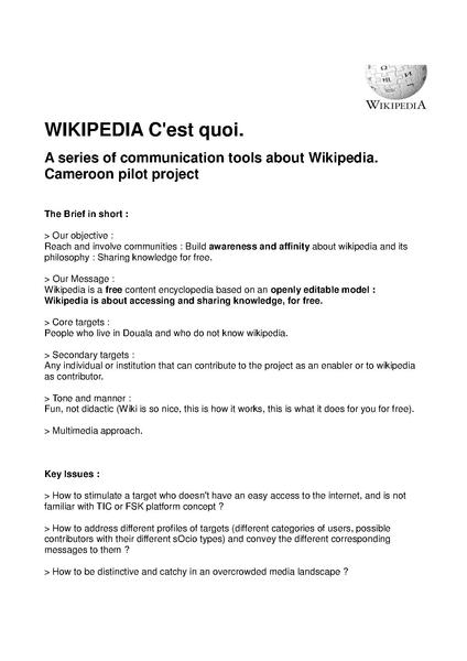 File:Wikipedia what is about - Cameroon pilot - General strategy Wiki02.pdf