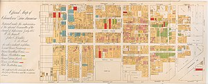 "Chinese Exclusion Act - This ""Official Map of Chinatown 1885"" was published as part of an official report of a Special Committee established by the San Francisco Board of Supervisors ""on the Condition of the Chinese Quarter""."