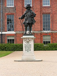Statue of William III in front of Kensington Palace. Donated by William II, German Emperor in 1907.