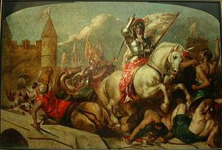 Jeanne d'Arc à la sortie d'Orléans, repoussant les Anglais
