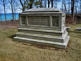 Lake Forest Cemetery - William Henry Smith marker