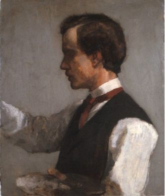 William James - Portrait of William James by John La Farge, circa 1859
