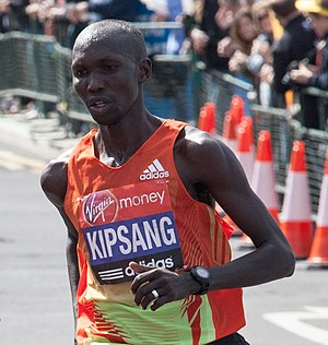 Wilson Kipsang Kiprotich - Wilson Kipsang at the 2012 London Marathon