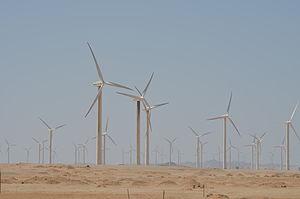 Energy in Egypt - Wind farm at Zaafarana