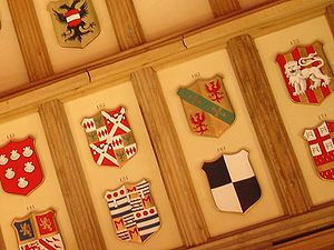 Álvaro Vaz de Almada, 1st Count of Avranches - Dom Álvaro Vaz de Almada's coat-of-arms (nr. 162) displayed at St. George's Hall, Windsor Castle. He was made the 162nd Knight of the Garter.