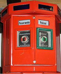 Historischer Brand- und Polizeimelder